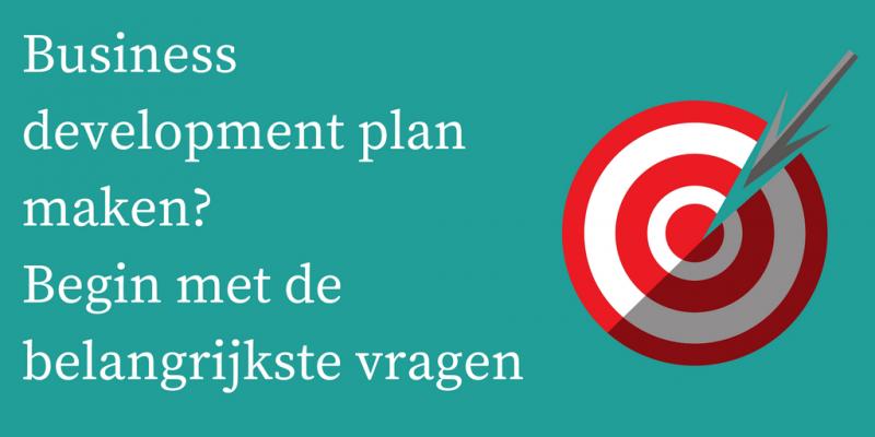 Business development plan maken