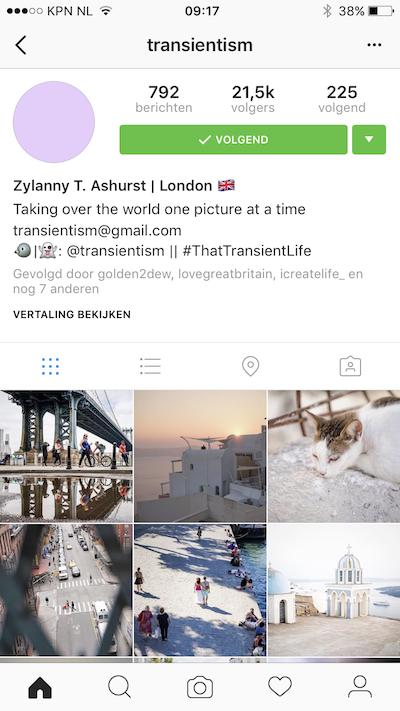 Instagram stijl