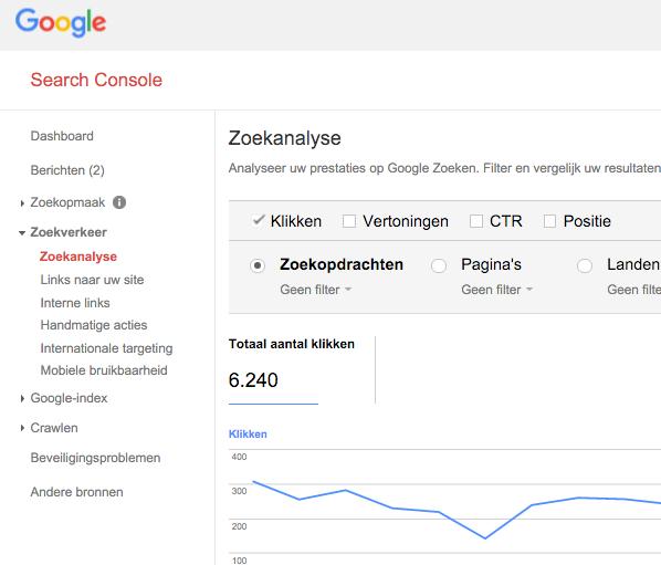 zoekwoorden webmaster tools