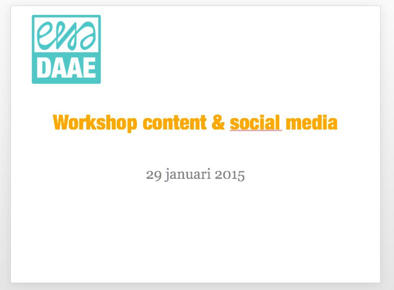 presentatie social media content