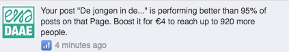 Facebook post promoten