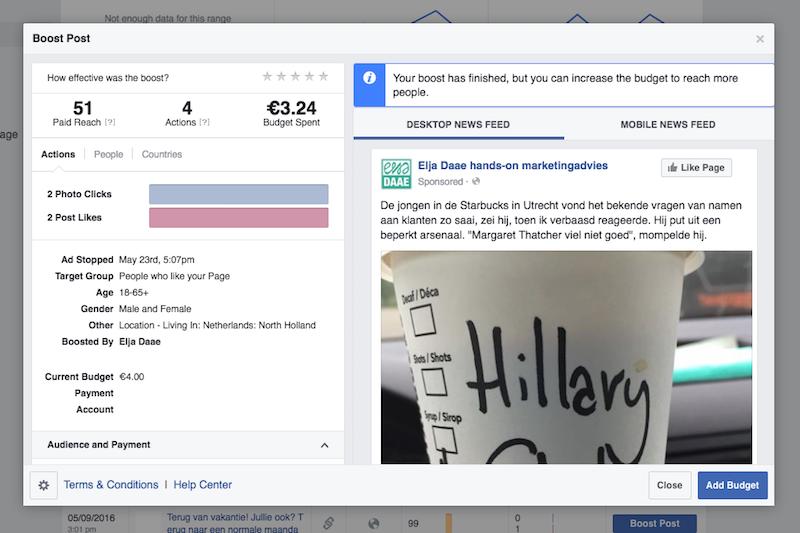 facebook update promoten 2
