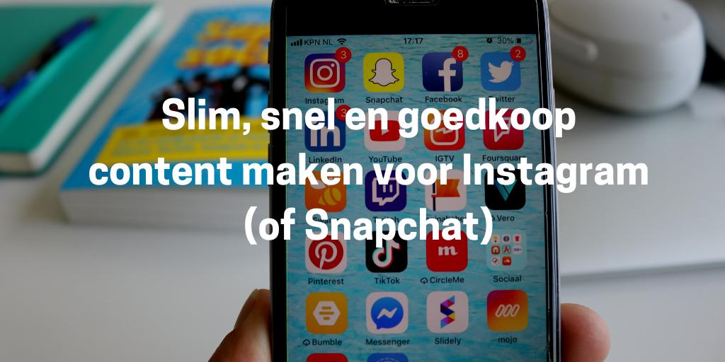 content maken voor Instagram