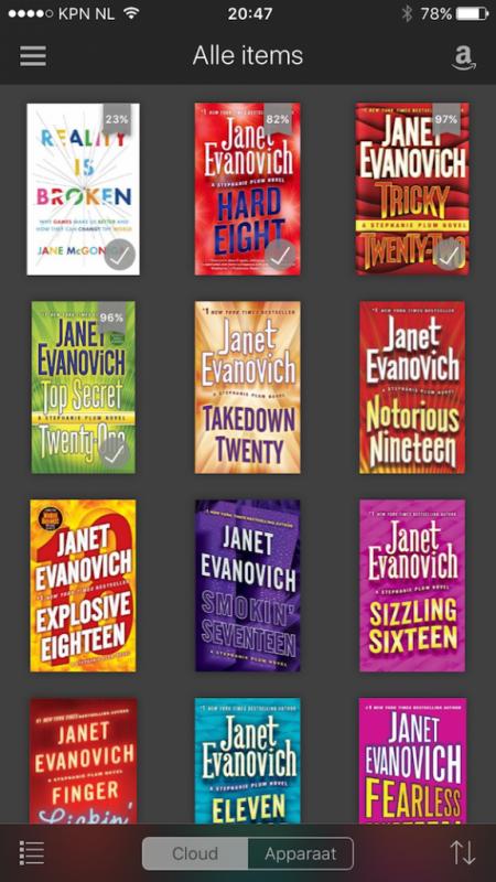 kindle iphone boekenlijst
