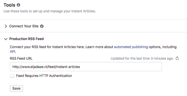 facebook instant articles feed