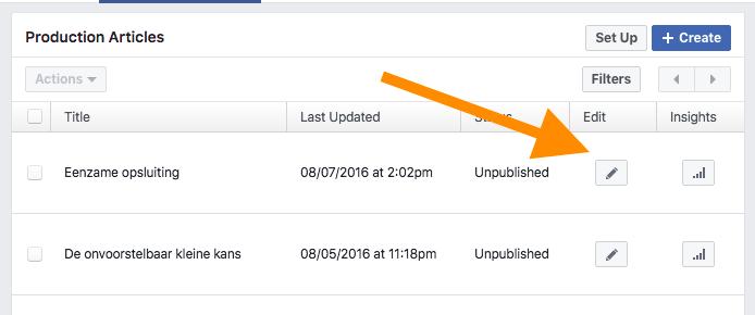 foute oplossen facebook instant articles