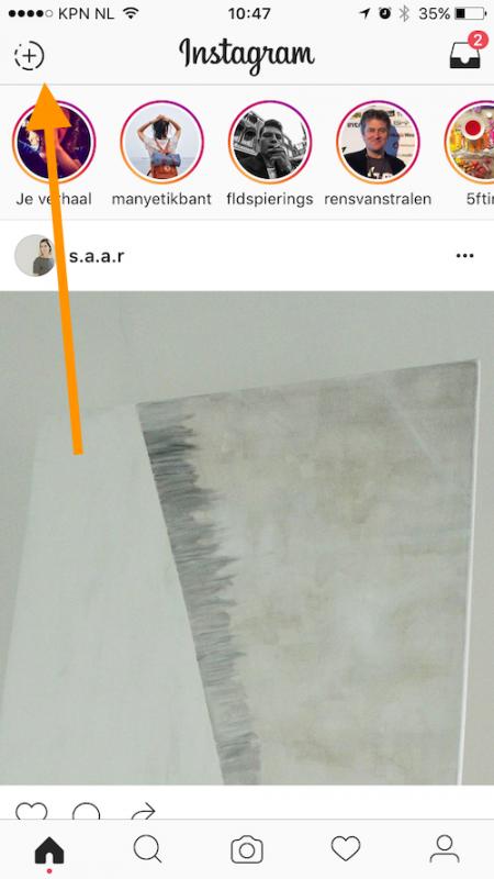maak een instagram story