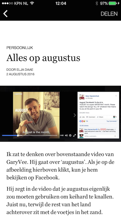 voorbeeld concept facebook instant article