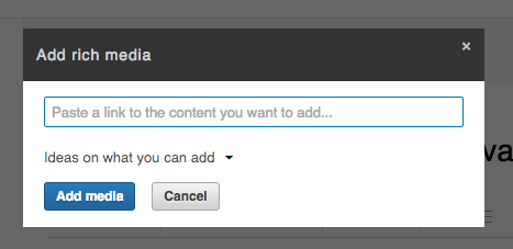 Bloggen op LinkedIn embedden media