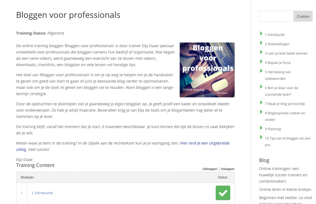 wordpress LMS online trainingen