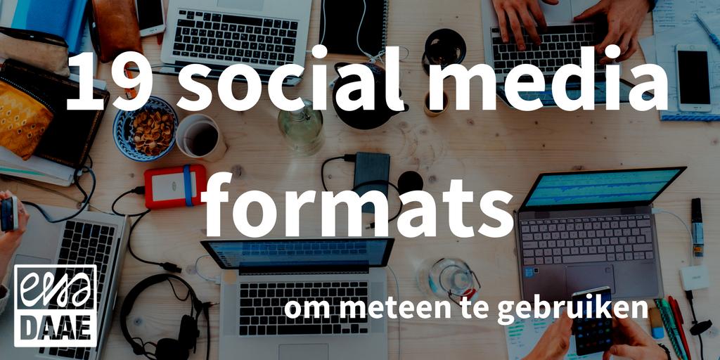 social media formats