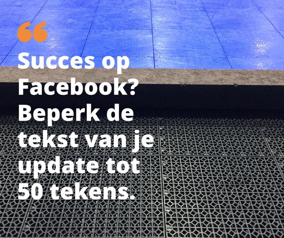 succes op Facebook