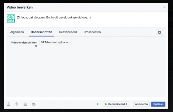 ondertiteling youtube voor facebook
