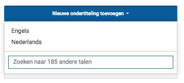 nieuwe ondertiteling youtube