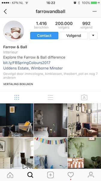 instagram bedrijven farrow ball