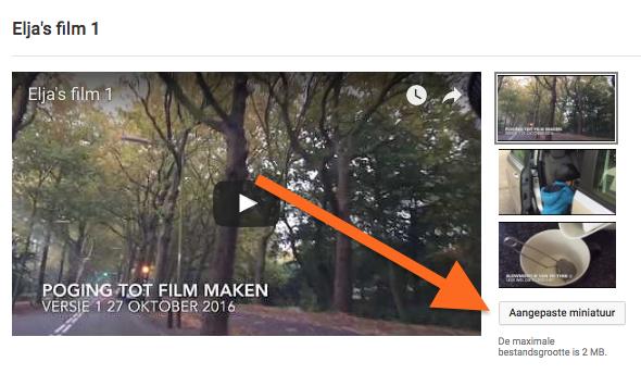 youtube video thumbnail wijzigen