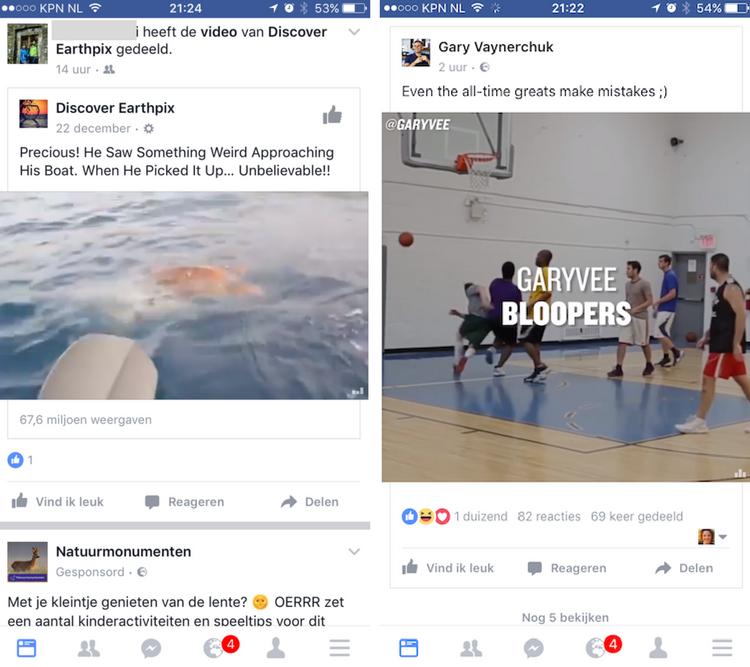 vierkante video Facebook