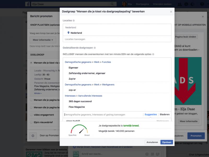 facebook doelgroepen