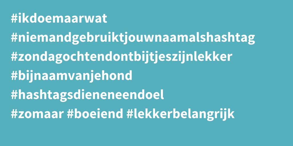 slim hashtags gebruiken
