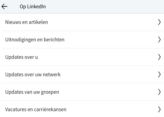 LinkedIn notifications about you