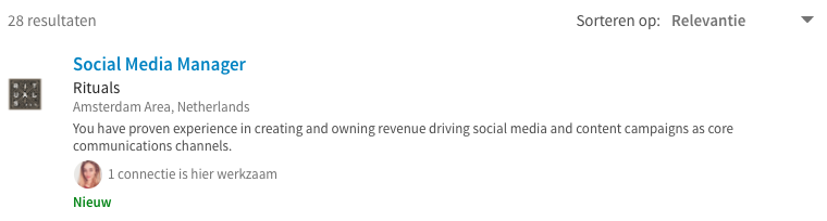 geheim van LinkedIn vacature