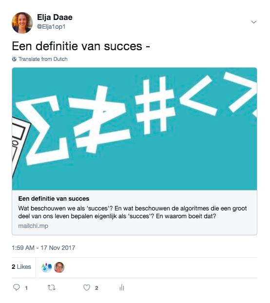 mailchimp nieuwsbrief twitter