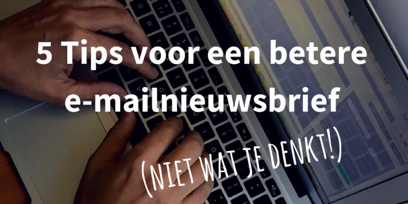 e-mail nieuwsbrief maken