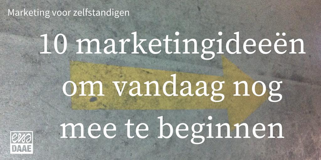 Marketing voor zelfstandigen