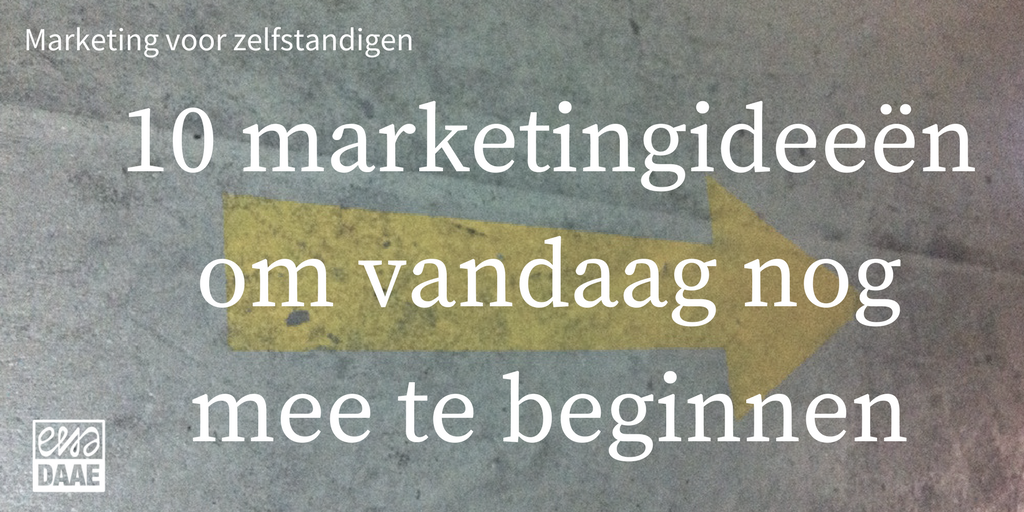Marketing voor zelfstandigen