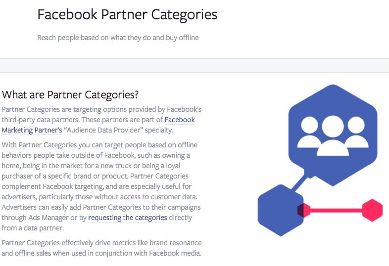 Facebook data adverteerders