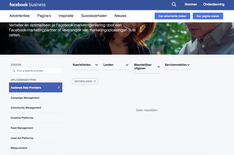 adverteren Facebook data Nederland