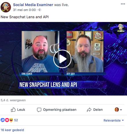 facebook algoritme facebook live