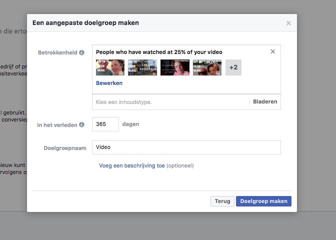 facebook video promoten