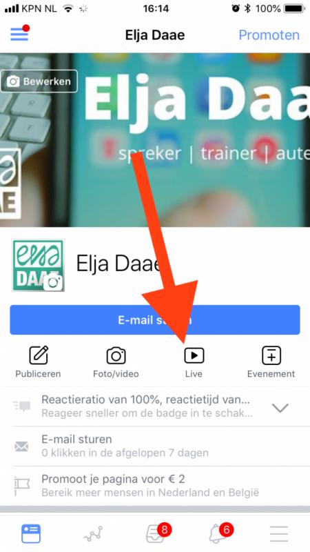 facebook voor bedrijven facebook live