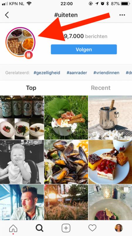 instagram stories vindbaar hashtag