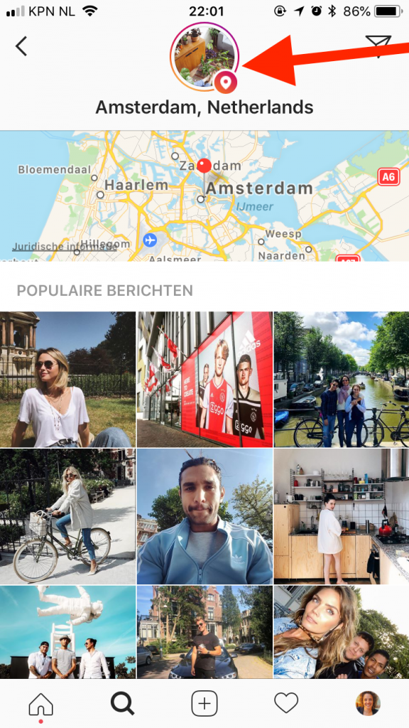 instagram stories vindbaar plaatsnaam