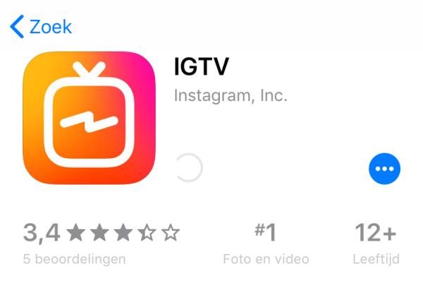 verticale video IGTV
