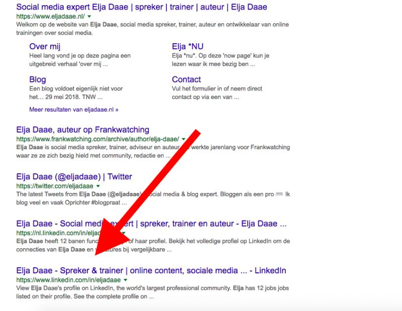 vindbaarheid in google vergroten linkedin