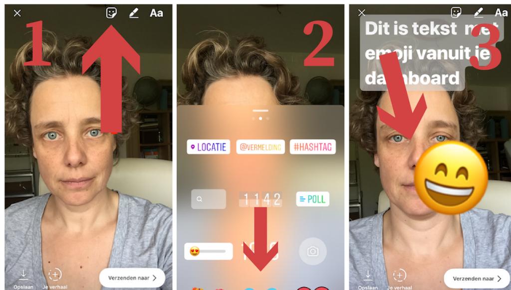 instagram stories emoji stickers toevoegen