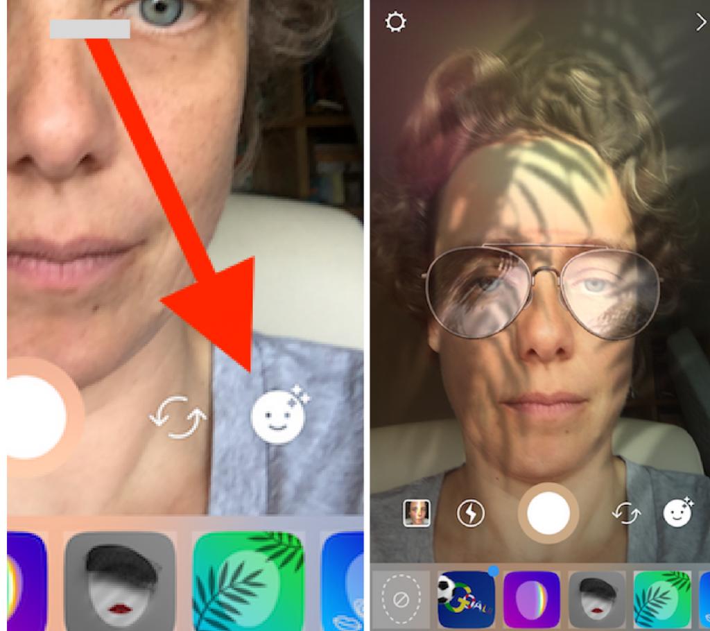 instagram stories gezichtsfilters