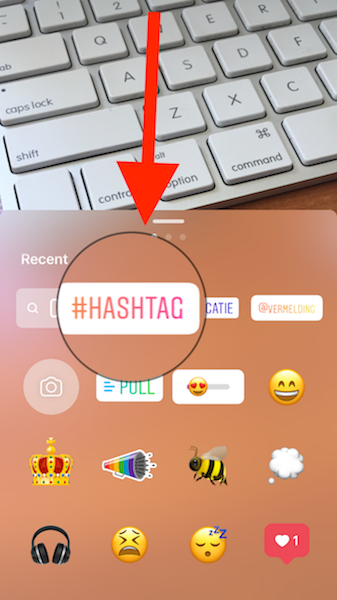 toevoegen hashtag instagram stories 3