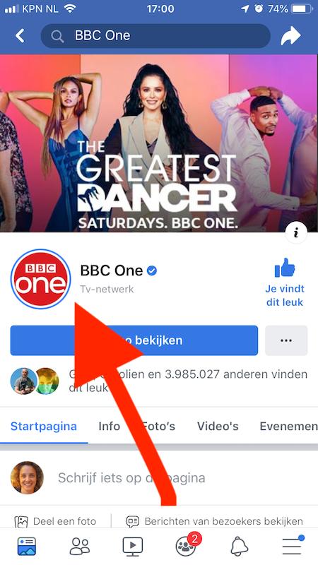 facebook story 24 uur blauwe cirkel