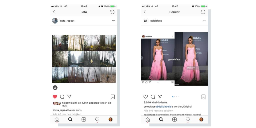 Instagramcontent met gratis foto's