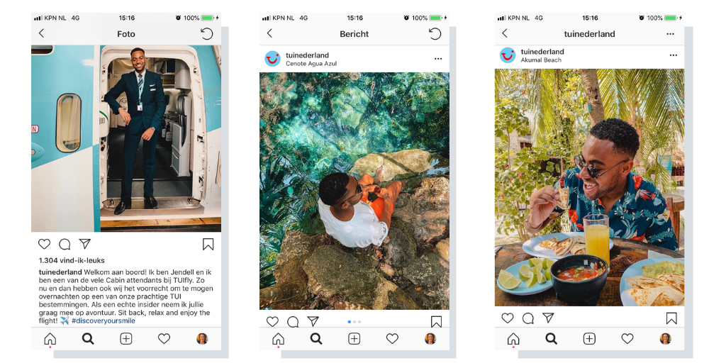Instagramcontent takeovers TUI