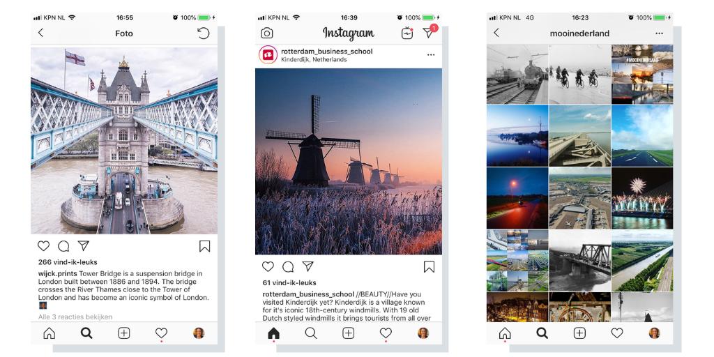 Instagramcontent thematisch