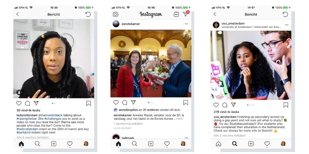 instagramcontent mensen verhaal