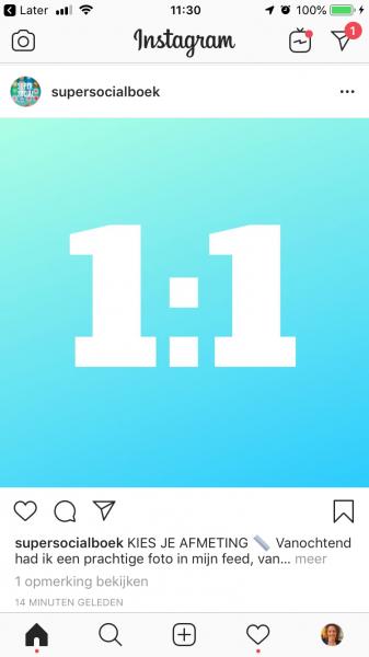 Instagram afmetingen vierkant