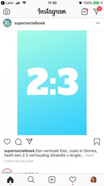 verticale foto instagram witte rand