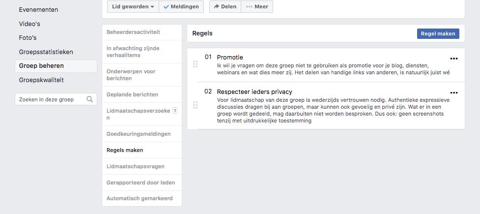 Facebookgroepen voor bedrijven groepsregels maken