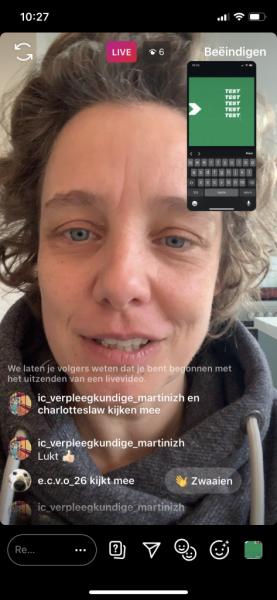 Instagram Live afbeelding delen in live stream